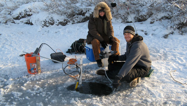 Students studying arctic climate change in Alaska